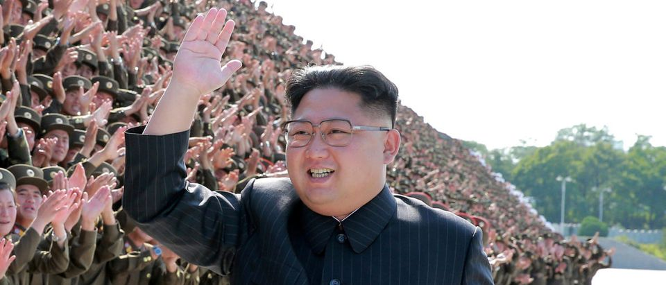 FILE PHOTO: North Korean leader Kim Jong Un waves at a photo session with attendants in the fourth Active Secretaries of Primary Organization of KPA Youth in this undated photo released by North Korea's Korean Central News Agency (KCNA) in Pyongyang September 1, 2017. KCNA via REUTERS/File Photo
