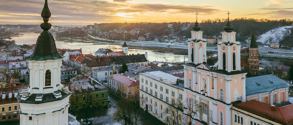 Early winter morning in Kaunas old town, Lithuania. Drone aerial view. (Shutterstock/A. Aleksandravicius) | Dem Warned About Need For Quorum