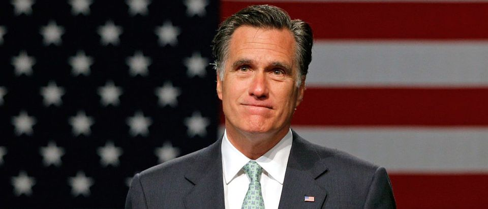 GOP Presidential Candidate Mitt Romney Campaigns In Michigan