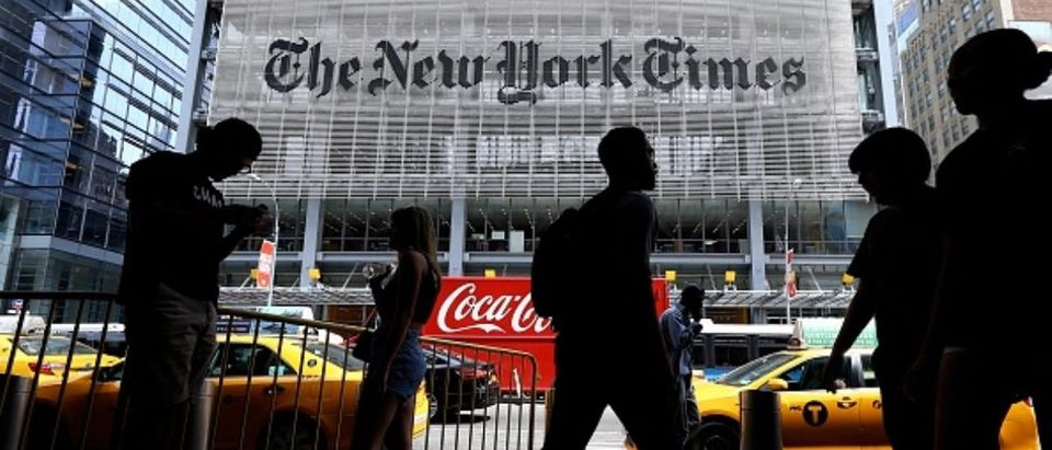 NEW YORK, USA - JUNE 29 : An outside view of New York Times (NYT) building in New York, United States on June 29, 2017. NYT employees start a temporary strike against downsizing and dismissal plans of the NYT management. (Photo by Volkan Furuncu/Anadolu Agency/Getty Images) | Writer Doesn't Regret Putting Off Kids