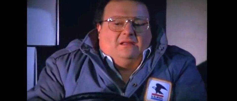 Newman from Seinfeld in post office gear YouTube screenshot/Pashatube