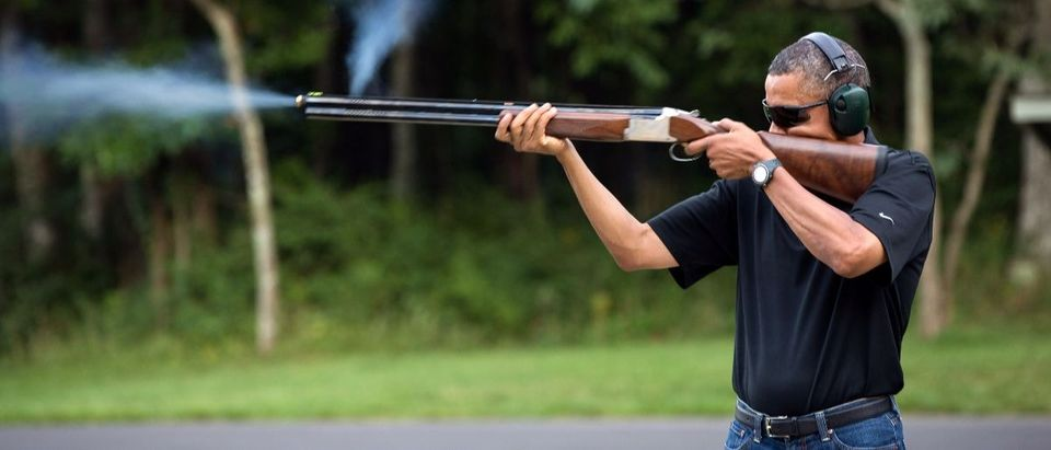 Obama shoots a gun Getty Images/White House/Pete Souza