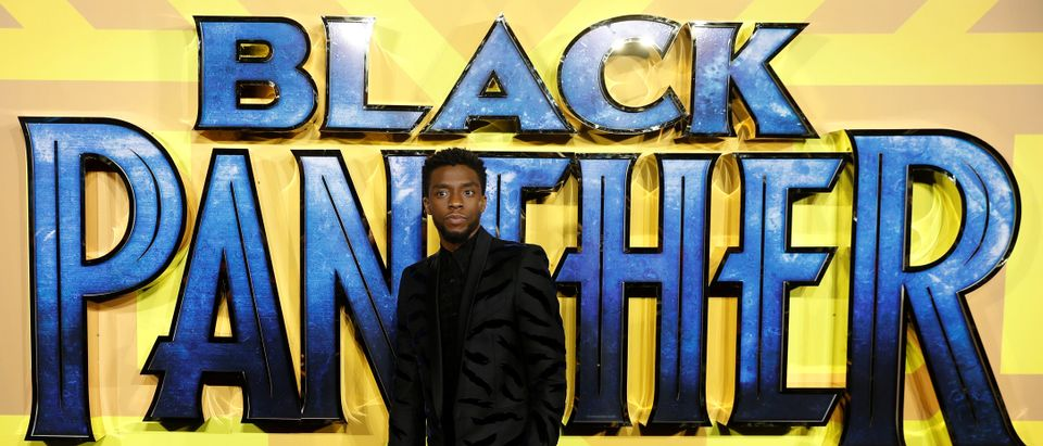 Actor Chadwick Boseman arrives at the premiere of the new Marvel superhero film 'Black Panther' in London