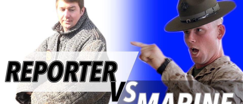 Reporter_vs_Marine_dog