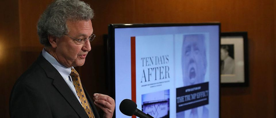 Richard Cohen, President of the Southern Poverty Law Center, speaks during a press conference November 29, 2016 in Washington, D.C. (Photo by Win McNamee/Getty Images)