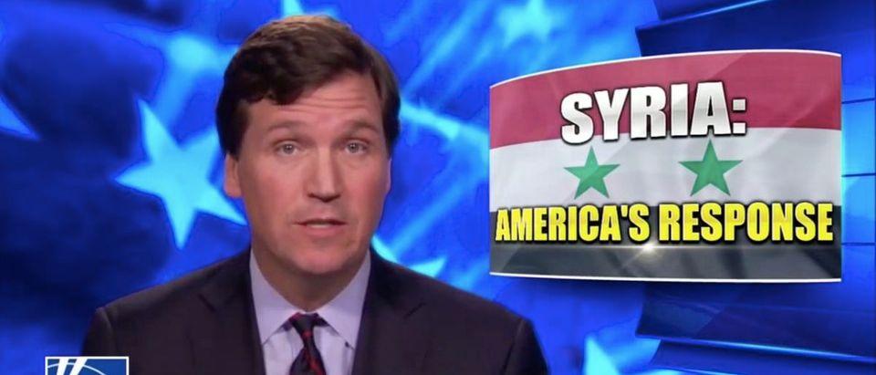 Screen Shot Tucker Carlson (Fox News: April 9, 2018)