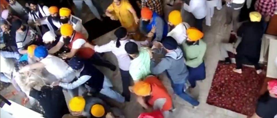 Sikh fight YouTube screenshot/WISH TV