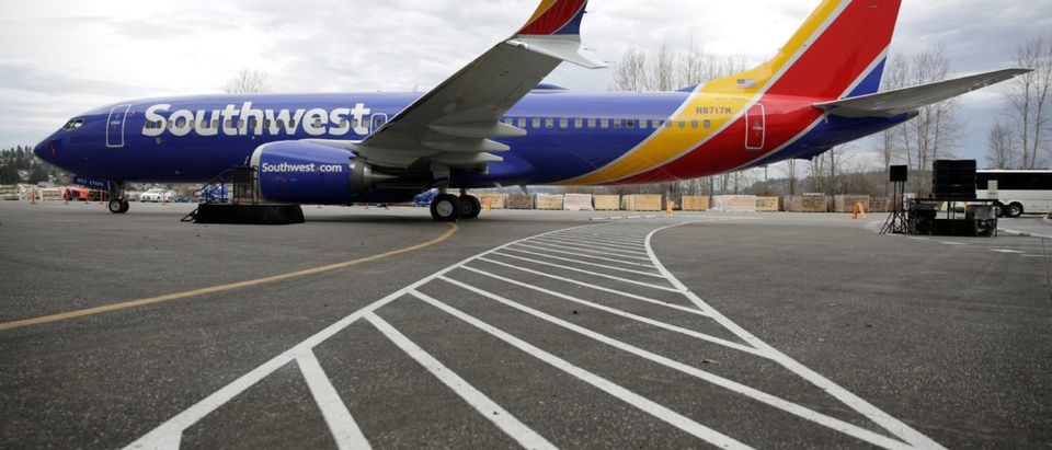 The 737 MAX 8 produced for Southwest Airlines is pictured as Boeing celebrates the 10,000th 737 to come off the production line in Renton, Washington, U.S. March 13, 2018. REUTERS/Jason Redmond | Southwest Airlines Plane Depressurizes