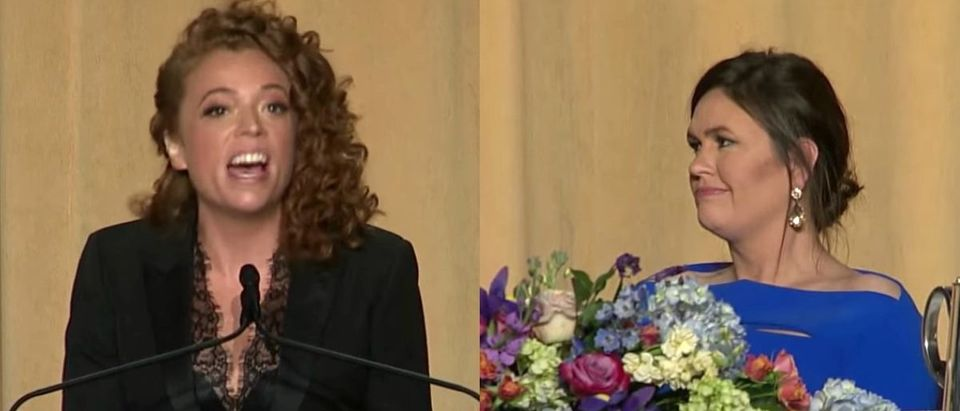 Michelle Wolf and Sara Sanders (Photo: Screenshot/CBS News)