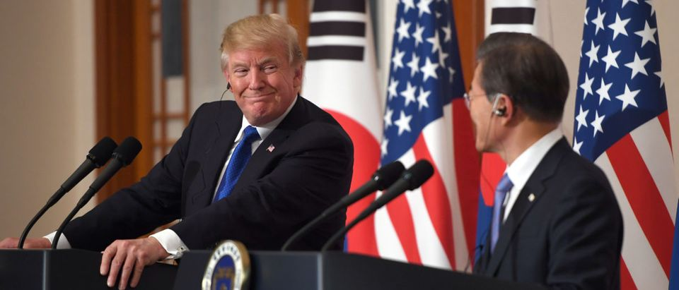 U.S. President Trump and South Korea's President Moon Jae-in hold a joint press conference in Seoul