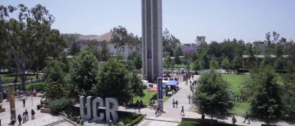 The University of California, Riverside is pictured from above. (Photo Credit: YouTube/Univ. of California, Riverside)