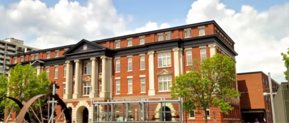 This is a building on Wilfrid Laurier's campus. (Photo Credit: YouTube/Eye Fly Media)