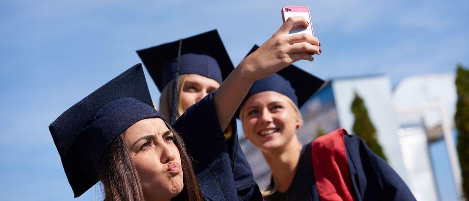 college graduation selfie Shutterstock/dotshock