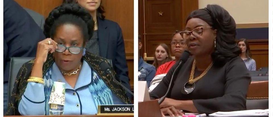 Sheila Jackson Lee, Diamond and Silk (YouTube)