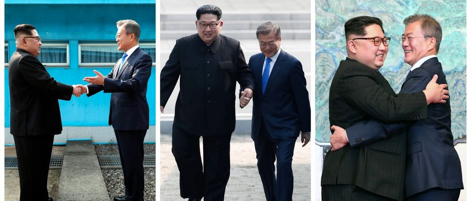 Kim Jong Un, Moon Jae-in (Getty Images)