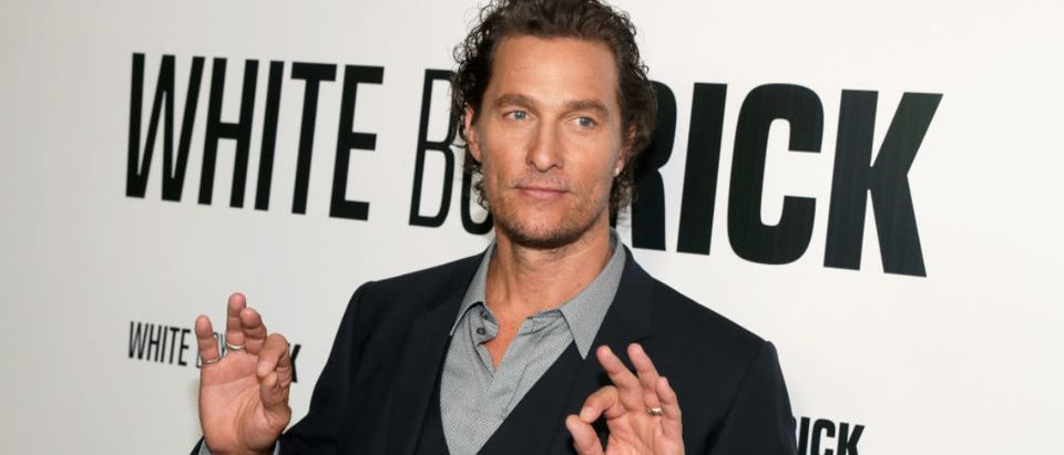 LAS VEGAS, NV - APRIL 23: Actor Matthew McConaughey attends the CinemaCon 2018 Gala Opening Night Event: Sony Pictures Highlights its 2018 Summer and Beyond Films at The Colosseum at Caesars Palace during CinemaCon, the official convention of the National Association of Theatre Owners, on April 23, 2018 in Las Vegas, Nevada. (Photo by Isaac Brekken/Getty Images for CinemaCon )