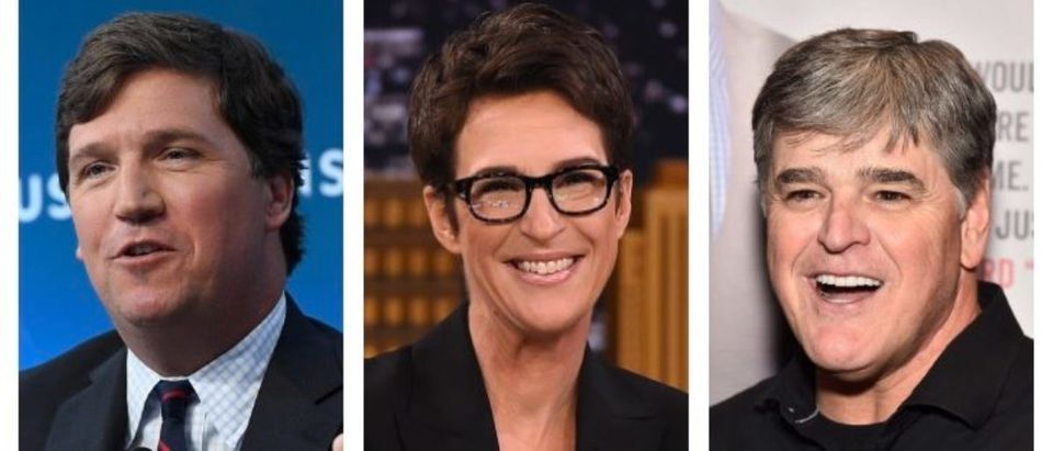 Tucker Carlson, Rachel Maddow, Sean Hannity (Getty Images)