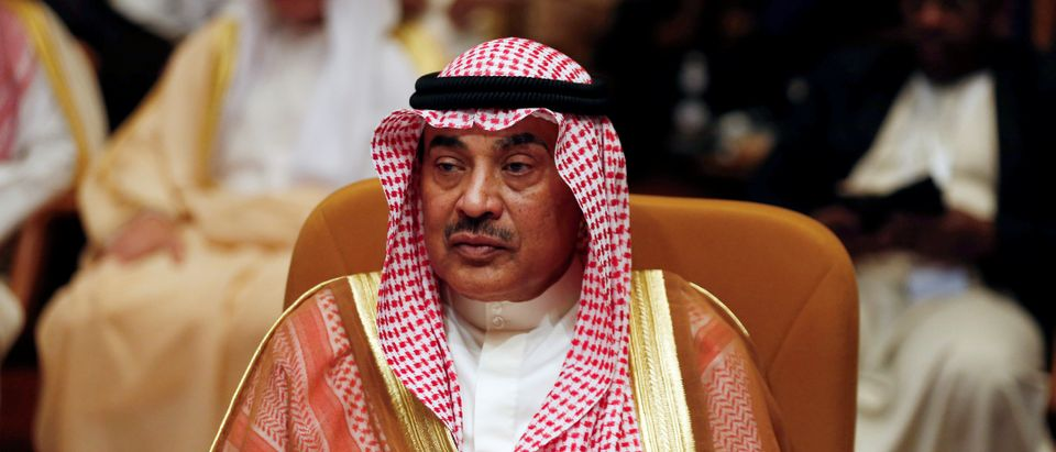 Kuwait's Foreign Minister Sheikh Sabah al Khalid Al Sabah attends the Arab Foreign meeting in Riyadh, Saudi Arabia April 12, 2018. REUTERS/Faisal Al Nasser - RC1C270B8900