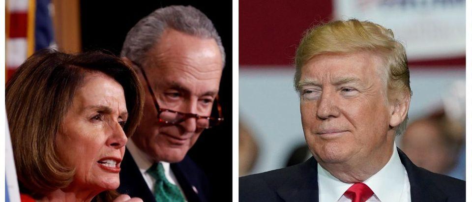 Nancy Pelosi, Chuck Schumer, Donald Trump (Reuters Pictures)