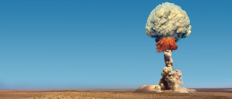 Explosion of atomic bomb. Shutterstock