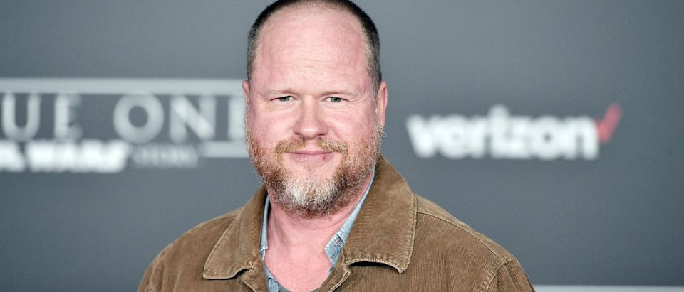 "HOLLYWOOD, CA - DECEMBER 10: Screenwriter Joss Whedon attends the premiere of Walt Disney Pictures and Lucasfilm's ""Rogue One: A Star Wars Story"" at the Pantages Theatre on December 10, 2016 in Hollywood, California. (Photo by Mike Windle/Getty Images)"