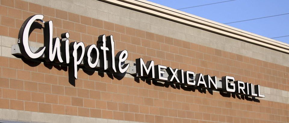 A Chipotle restaurant is shown in Federal Way, Washington
