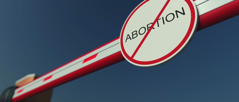 Abortion sign with line through it