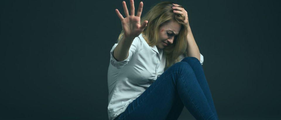 Abused Woman (Shutterstock/Anton27) | Women Ask Seminary President To Resign