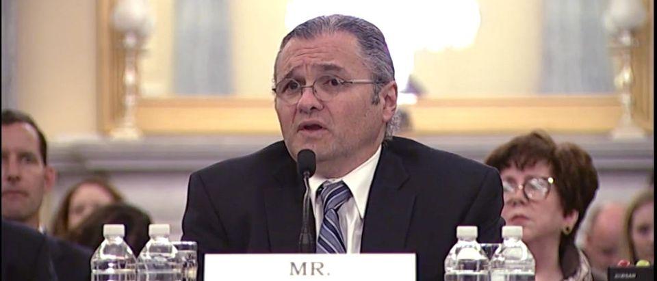 Adrian Abramovich testifies before the Senate April 18. (Photo: YouTube Screenshot, Senator Markey) | Guy Behind Robocalls Gets $120M Fine