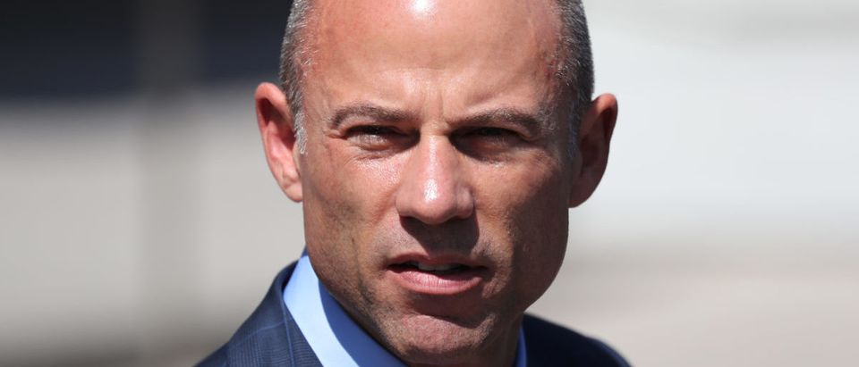 Michael Avenatti, lawyer for adult-film actress Stephanie Clifford, also known as Stormy Daniels, speaks to the media outside the U.S. District Court in LA