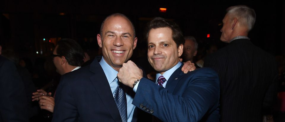 NEW YORK, NY - APRIL 12: Michael Avenatti and Anthony Scaramucci attend The Hollywood Reporter's Most Powerful People In Media 2018 at The Pool on April 12, 2018 in New York City. (Photo by Jamie McCarthy/Getty Images)