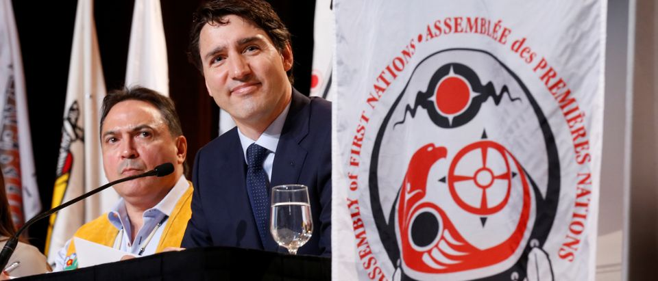 Canada's PM Trudeau and National Chief Bellegarde attend the AFN Special Chiefs Assembly in Gatineau