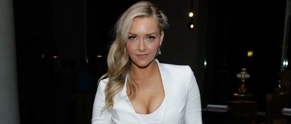 Model Camille Kostek attends the SI Swimsuit 2018 Model Search celebration and preview of the Sports Illustrated Swim and Active Collection at Mr. Purple in Hotel Indigo LES November 1, 2017 in New York City. (Photo by Lars Niki/Getty Images for Sports Illustrated Swimsuit)
