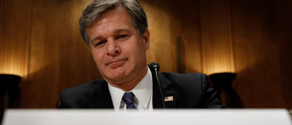 Pictured is FBI Director Christopher Wray. (REUTERS/KEVIN LAMARQUE)