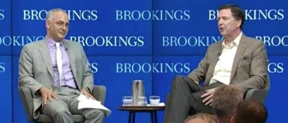 Benjamin Wittes interviews James Comey at Brookings Institution, May 11, 2018. (CSPAN) | Comey Friend Compares Nunes To Snowden