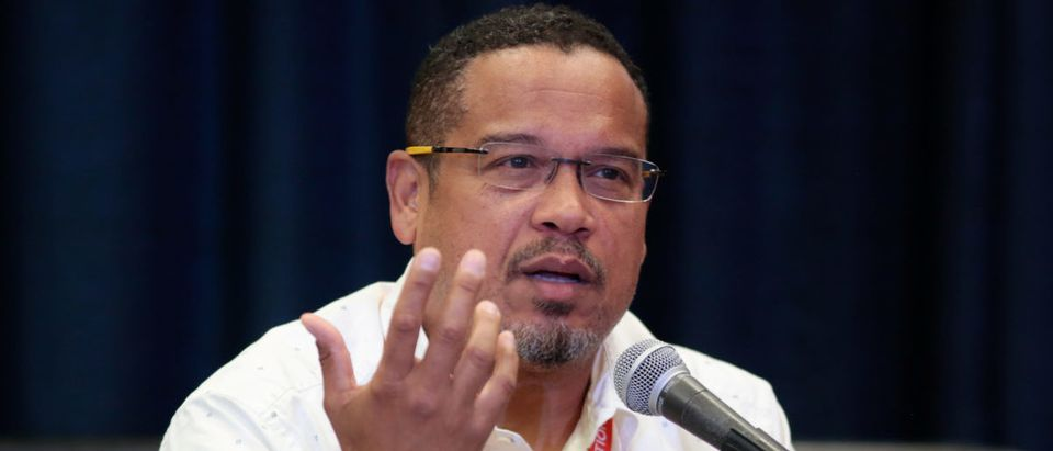 "U.S. Rep. Keith Ellison (D-MN) speaks at breakout session ""From Demonstration to Legislation: How Organizing Will Win Back Progressive Power"" at the Netroots Nation annual conference for political progressives in Atlanta"