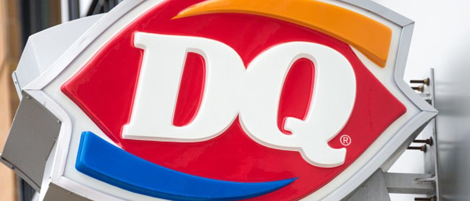 Dairy Queen Signage or DQ: international frozen products