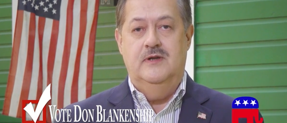 Don Blakenship/Ad/Screen Shot | Don Blankenship Releases New Racist Ad