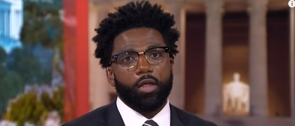 Donte Stallworth discusses NFL owners 'kowtowing' to President Trump on MSNBC (screengrab)