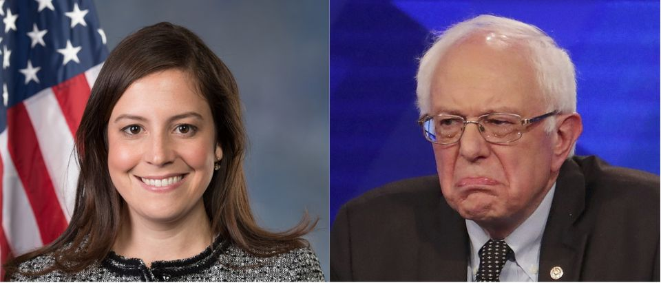 Elise Stefanik public domain, Bernie Sanders Reuters/Carlo Allegri
