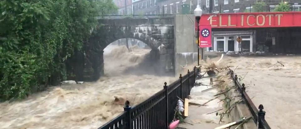 Flooding is seen in Ellicott City, Maryland, U.S