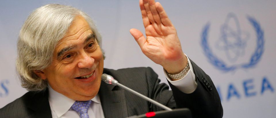 U.S. Secretary of Energy Ernest Moniz addresses a news conference during the IAEA (International Atomic Energy Agency) general conference in Vienna, Austria September 26, 2016. REUTERS/Heinz-Peter Bader | Obama Spent More Than Pruitt On A SCIF