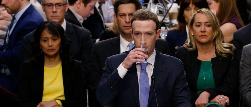 Facebook CEO Zuckerberg testifies before a U.S. Senate joint hearing on Capitol Hill in Washington