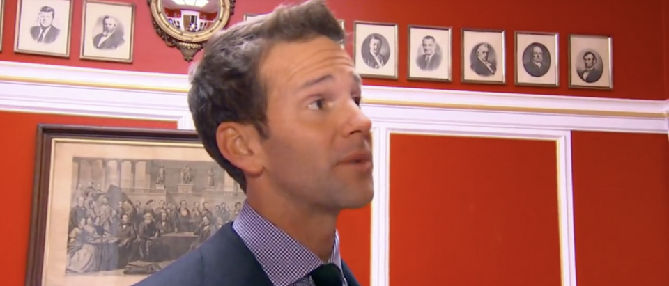 Former Rep. Aaron Shock in his infamous Downton Abbey-themed office in 2015. (YouTube screenshot/ABC News) | Shock Faces Trial After Failed Appeal