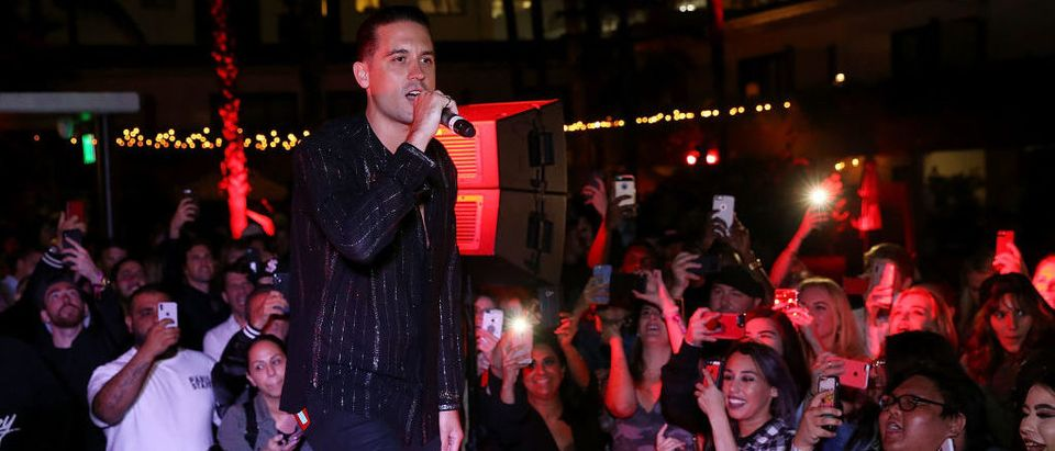 G-Eazy performs onstage at Flaunt and /Nyden Host a Pre-Coachella Bash Hosted by G-Eazy at The Hollywood Roosevelt Hotel on April 11, 2018 in Los Angeles. (Photo by Phillip Faraone/Getty Images for Flaunt Magazine)