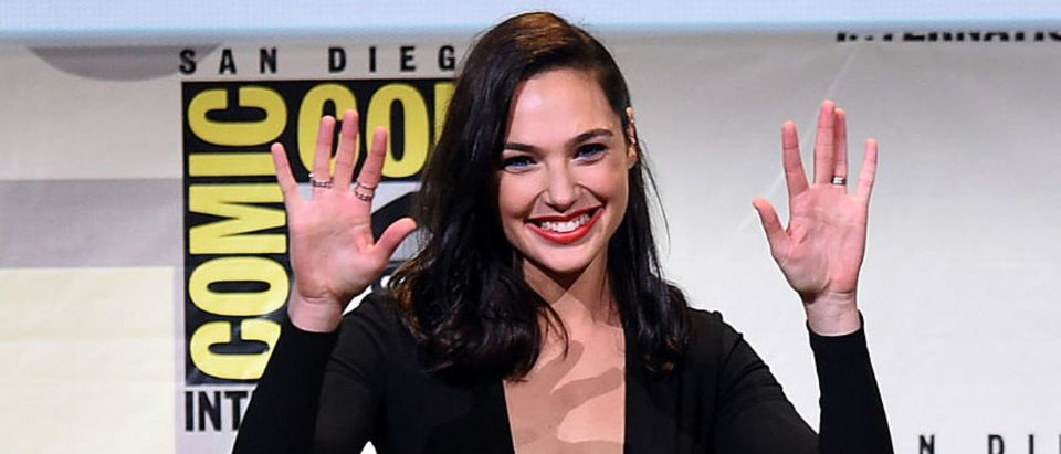 Actress Gal Gadot attends the Warner Bros. 'Wonder Woman' Presentation during Comic-Con International 2016 at San Diego Convention Center on July 23, 2016 in San Diego, California. (Photo by Kevin Winter/Getty Images)