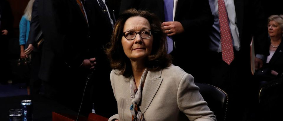 CIA Director nominee Gina Haspel departs her confirmation hearing before the Senate Intelligence Committee on Capitol Hill in Washington, U.S., May 9, 2018. REUTERS/Aaron P. Bernstein