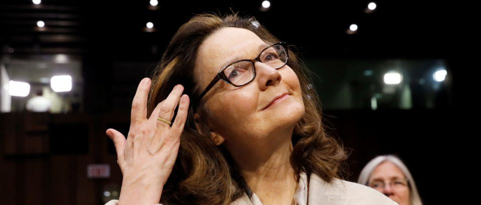 FILE PHOTO: CIA director nominee Haspel testifies at Senate Intelligence Committee confirmation hearing in Washington
