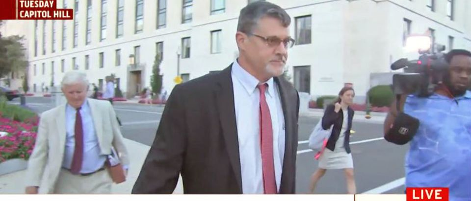 Congressional investigators are taking a fresh look at testimony provided in 2017 by Glenn Simpson, the founder of the opposition firm that commissioned the Steele dossier. (Photo: YouTube screen capture/MSNBC)