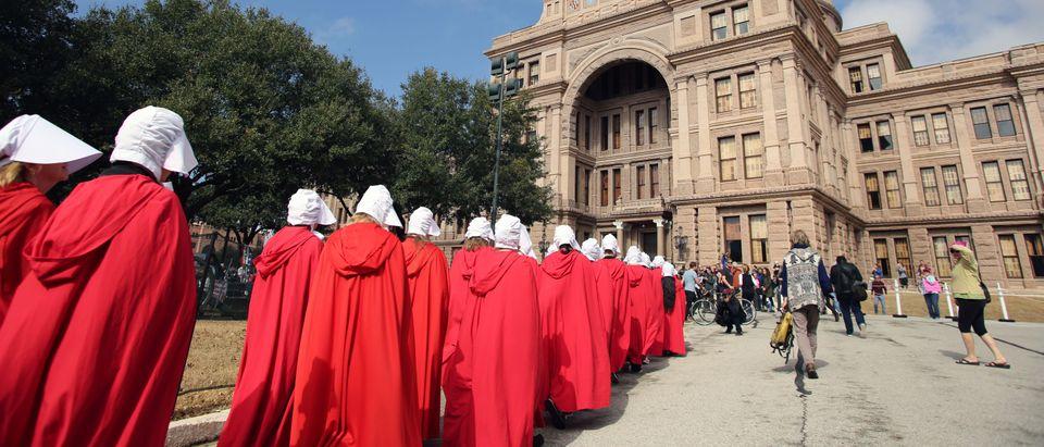 Handmaids protest (Shutterstock/